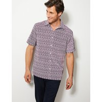 M&S Collection Relaxed Fit Printed Shirt