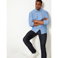 M&S Collection Pure Linen Shirt with Pocket