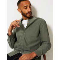 M&S Collection Pure Cotton Shirt with Pocket