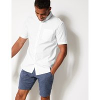 MandS Collection Pure Cotton Oxford Shirt
