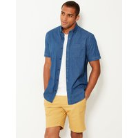 MandS Collection Pure Cotton Shirt with Pocket