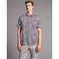 Autograph Pure Cotton Slim Fit Printed Shirt