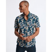Limited Edition Slim Fit Bamboo Print Shirt