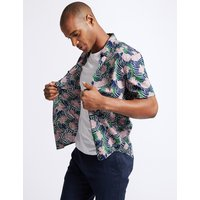 Limited Edition Slim Fit Large Floral Print Shirt