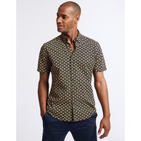 Limited Edition Slim Fit Geometric Print Shirt