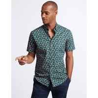 Limited Edition Slim Fit Tear Drop Printed Shirt