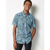 Limited Edition Pure Cotton Flower Print Shirt