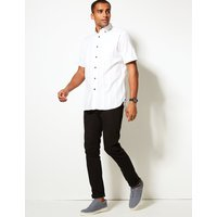 Blue Harbour Pure Cotton Textured Shirt with Pocket