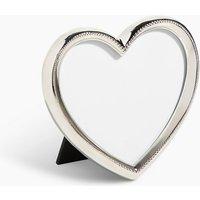 Beaded Heart Single Photo Frame 10 x 10cm (4 x 4 inch)