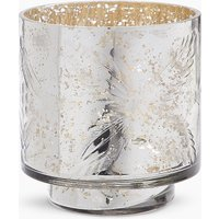 Etched Mercury Maxi Tea Light Holder