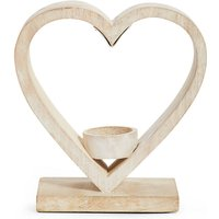 Wooden Heart Tea Light Holder