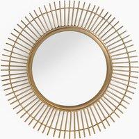 Round Mini Sunburst Metal Wall Mirror