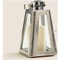 M&S Metal Small Lantern - 1SIZE - Silver, Silver