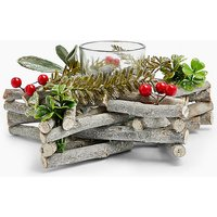 Glass Star Wreath Tea Light Holder