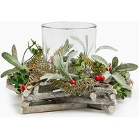 Glass Star Wreath Candle Holder