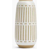 Tall Natural Stripe Vase