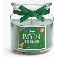 Candy Cane Jar Candle