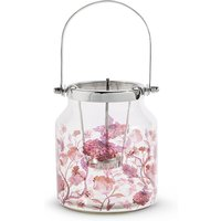 Small Floral Decal Lantern