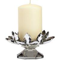 Cut Glass Flower Pillar Candle Holder