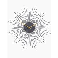 Sputnik Metal Wall Clock grey