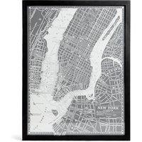 Vintage New York Map Wall Art