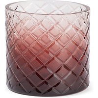 Diamond Cut Glass Ombre Tea Light Holder