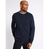 M&S Collection Big & Tall Pure Cotton Crew Neck Sweatshirt