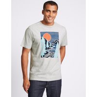 M&S Collection Slim Fit Pure Cotton Crew Neck T-Shirt