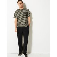 M&S Collection Cotton Rich Lightweight Joggers with StayNEW
