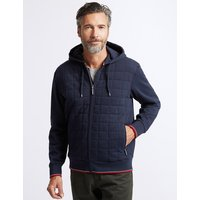 Blue Harbour Cotton Rich Zip Through Hooded Top