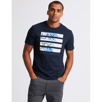 M&S Collection Slim Fit Printed Crew Neck T-Shirt