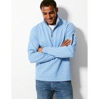 Blue Harbour Cotton Blend Half Zip Top
