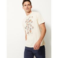 MandS Collection Pure Cotton Bike Print T-Shirt