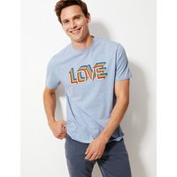 MandS Collection Pride Love Print Cotton T-Shirt