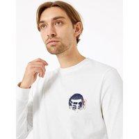 MandS Collection Pure Cotton Koi Design Long Sleeve T-Shirt