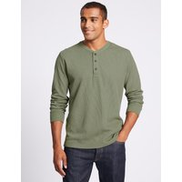 M&S Collection Slim Fit Pure Cotton Textured Top