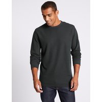 M&S Collection Slim Fit Pure Cotton Sweatshirt