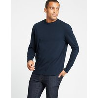 M&S Collection Pure Cotton Long Sleeve T-Shirt
