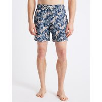 M&S Collection Stork Printed Quick Dry Swim Shorts