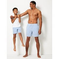 M&S Collection Cotton Rich Quick Dry Swim Shorts