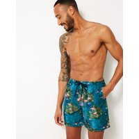 M&S Collection Printed Quick Dry Swim Shorts