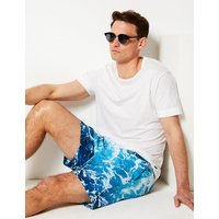 M&S Collection Quick Dry Wave Print Swim Shorts