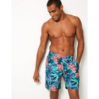 M&S Collection Quick Dry Palm Leaf Print Swim Shorts