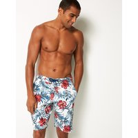 M&S Collection Quick Dry Flower Print Swim Shorts