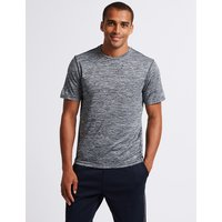 M&S Collection Active Slim Fit Textured Crew Neck T-Shirt