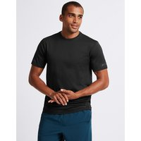 M&S Collection Active Textured Crew Neck T-Shirt