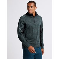 M&S Collection Acitve Slim Fit Textured Zipped Through Top