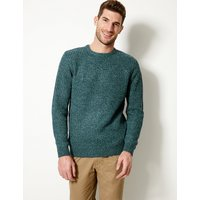M&S Collection Textured Crew Neck Jumper