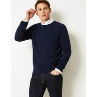 M&S Collection Pure Extra Fine Lambswool Crew Neck Jumper