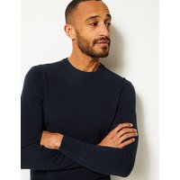 M&S Collection Pure Cotton Crew Neck Jumper